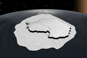 The surface area of Antarctic Sea ice increases dramatically during the winter.